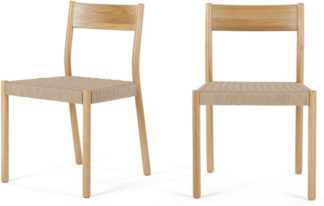 An Image of Set of 2 Rhye Woven Dining Chairs