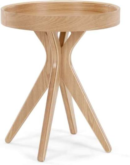 An Image of MADE Essentials Pieta Bedside Table, Plywood
