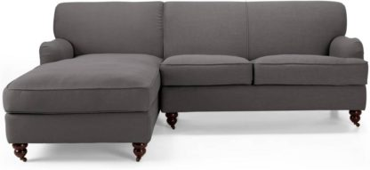 An Image of Orson Left Hand Facing Chaise End Corner Sofa, Graphite Grey