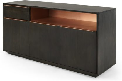 An Image of Anderson Sideboard, Mocha Mango Wood and Copper