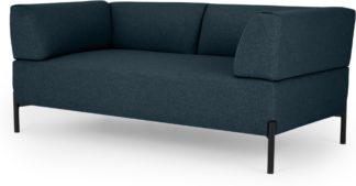 An Image of MADE Essentials Kiva 2 Seater Sofa, Aegean Blue
