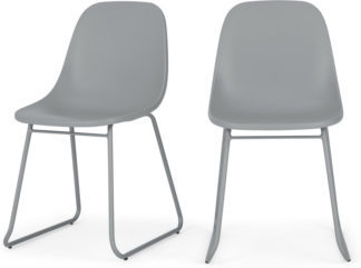 An Image of Set of 2 Duggie Dining Chairs, Grey