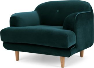 An Image of Gracie Armchair, Seafoam Blue Velvet