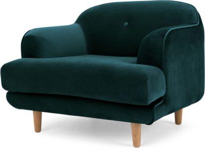 An Image of Gracie Armchair, Seafoam Blue Velvet