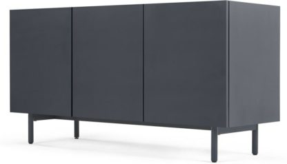 An Image of MADE Essentials Mino sideboard, Dark Grey and Oak