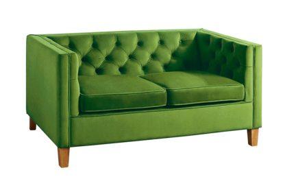 An Image of Miasto 2 Seater Sofa Emerald Green Velvet