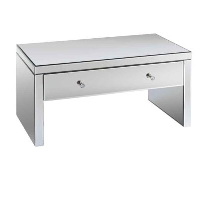An Image of Venetian Mirrored Coffee Table with Single Drawer