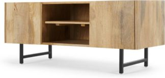 An Image of Aphra TV Stand, Light Mango Wood and Black