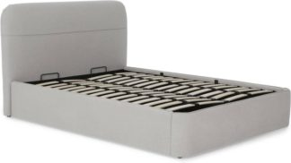 An Image of Baya Double Bed with Ottoman Storage, Hail Grey