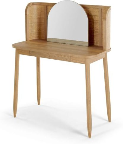 An Image of Liana Dressing Table, Ash & Rattan