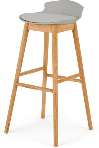 An Image of Thelma Barstool, Oak and Grey