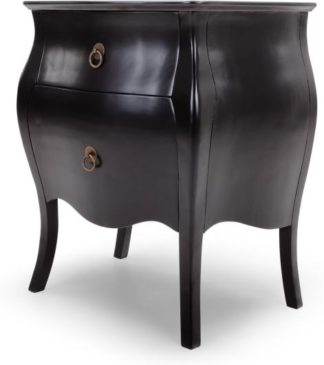 An Image of Bourbon Bedside Table, Black