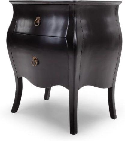 An Image of Bourbon Bedside Table, Black