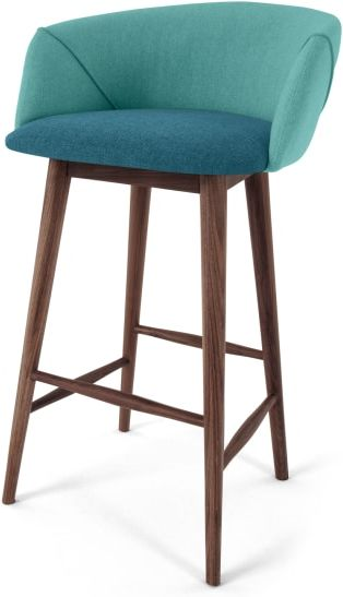 An Image of Lule Bar Stool, Mineral Blue and Emerald Green