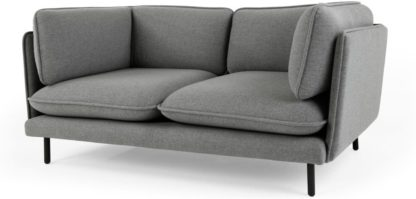 An Image of Wes 2 Seater Sofa, Elite Grey