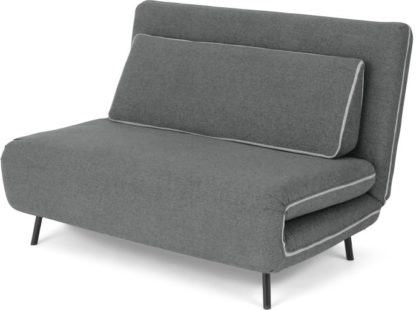 An Image of Kahlo Double Seat Sofa Bed, Salt Grey