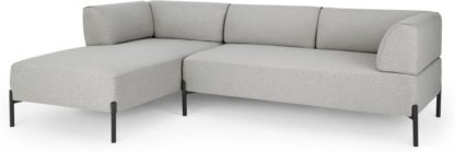 An Image of MADE Essentials Kiva Left Hand Facing Chaise End Corner Sofa, Hail Grey
