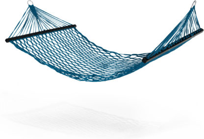 An Image of Rika Large Woven Hammock, Teal