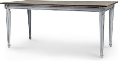 An Image of Bourbon Vintage Dining Table, Distressed Grey