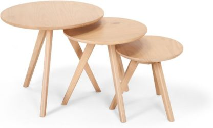 An Image of Set of 3 Orion Side Tables, Natural