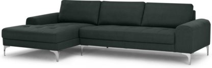 An Image of Vittorio Left Hand Facing Chaise End Corner Sofa, Anthracite Grey