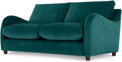 An Image of Sofia 2 Seater Sofabed, Plush Mallard Velvet