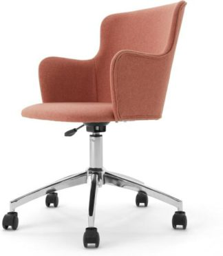 An Image of Winona Office Chair, Dusk Pink