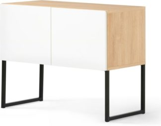 An Image of MADE Essentials Hopkins Sideboard, Oak and White