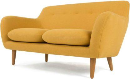 An Image of Dylan 2 Seater Sofa, Yolk Yellow