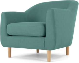 An Image of Tubby Armchair, Soft Teal