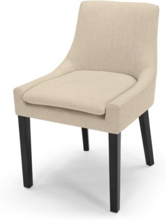 An Image of Percy Scoop Back Chair, Biscuit Beige