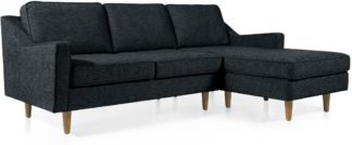 An Image of Dallas Right Hand Facing Chaise End Corner Sofa, Textured Weave Navy