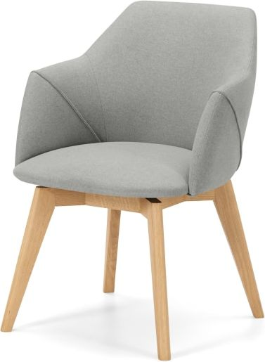 An Image of Lule Office Chair, Hail Grey and Oak