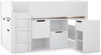 An Image of Rubix Cabin Bed Storage Station, White