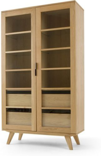 An Image of Aveiro Display Cabinet, Oak and Glass