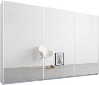 An Image of Malix 3 door 270cm Sliding Wardrobe, White frame,Mirror doors, Standard Interior