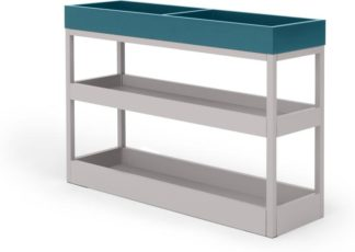 An Image of MADE Essentials Yumi Side Table, Blue and Grey