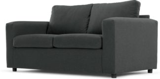 An Image of MADE Essentials Felix 2 Seater Sofa Bed with Foam Mattress, Shetland Slate