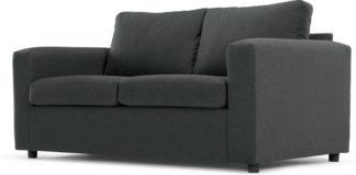 An Image of MADE Essentials Felix 2 Seater Sofa Bed with Foam Mattress, Shetland Slate