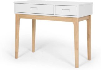 An Image of Linus desk, pine and white
