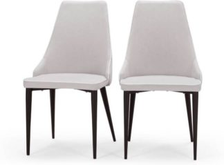 An Image of Set of 2 Julietta Dining Chairs, Cloud Grey