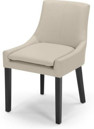 An Image of Percy Scoop Back Chair, Putty Beige PU