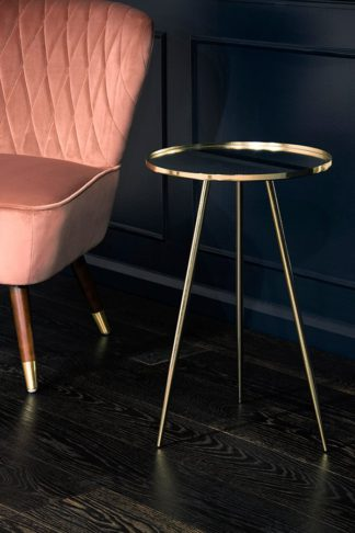 An Image of Panatella Brass Side Table
