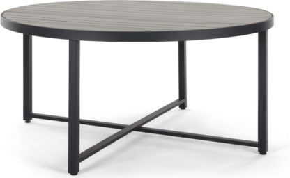 An Image of Catania Round 6 Seater Dining Table, Polywood