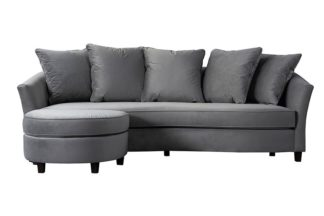 An Image of Morgan Three Seat Corner Sofa - Dove Grey