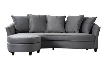 An Image of Morgan Three Seat Corner Sofa - Dove Grey