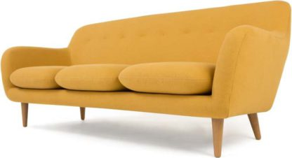 An Image of Dylan 3 Seater Sofa, Yolk Yellow