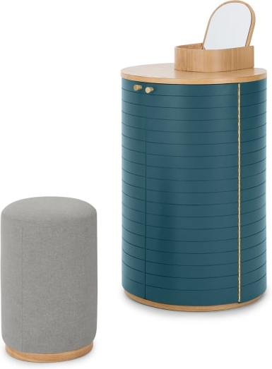An Image of Novak Dressing Table, Ash and Teal