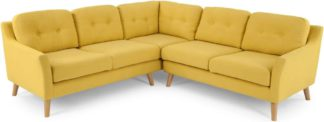 An Image of Rufus Corner Sofa, Mustard Yellow