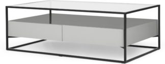 An Image of Jaxta Coffee Table, Grey and Glass